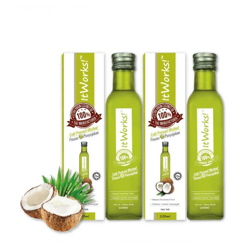 Extra Virgin Coconut Oil (250ml x 2 )