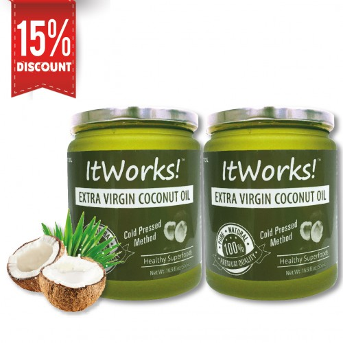 Extra Virgin Coconut Oil Jar (500ml x 2)